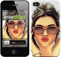 "Чехол на iPhone 4 Девушка_арт ""3005c-15"""