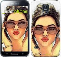 "Чехол на Samsung Galaxy S5 Duos SM G900FD Девушка_арт ""3005c-62"""