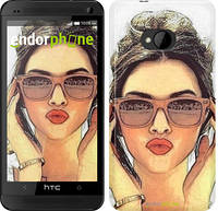 "Чехол на HTC One M7 Девушка_арт ""3005c-36"""