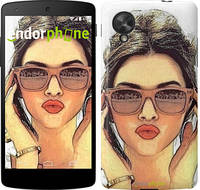 "Чехол на LG Nexus 5 Девушка_арт ""3005c-57"""