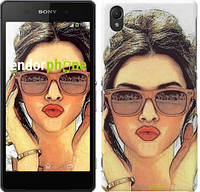 "Чехол на Sony Xperia Z2 D6502/D6503 Девушка_арт ""3005c-43"""