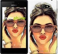 """Чехол на Sony Xperia M2 dual D2302 Девушка_арт """"3005c-61"""""""