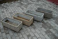 Вазон Фрегат уличный длинный из мытого бетона
