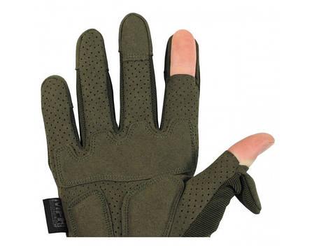 Перчатки тактические с откидными фалангами MFH Action 15843B, фото 2