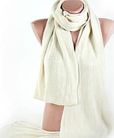 Теплый женский шарф из акрила 200 на 26 см Traum 2492-10, бежевый