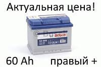 Аккумулятор Bosch S4 60 Ah 0092S40050 Пусковой ток 540 A, Правый +, Размеры на картинке