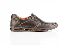 Мужские кожаные туфли Comfort Walk brown, фото 1