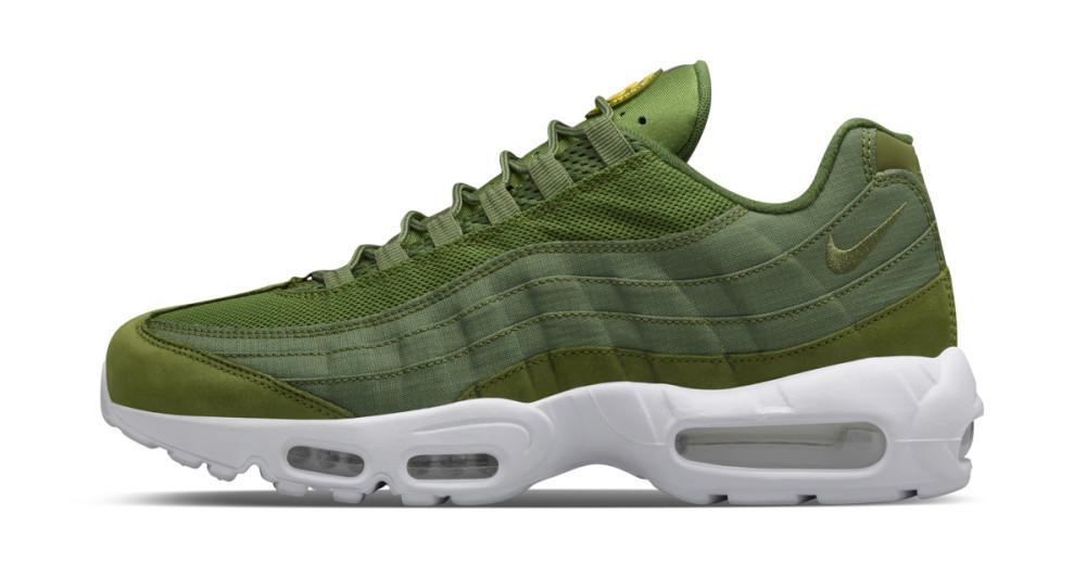 "Кроссовки Nike Air Max 95 x Stussy ""Green/White"""