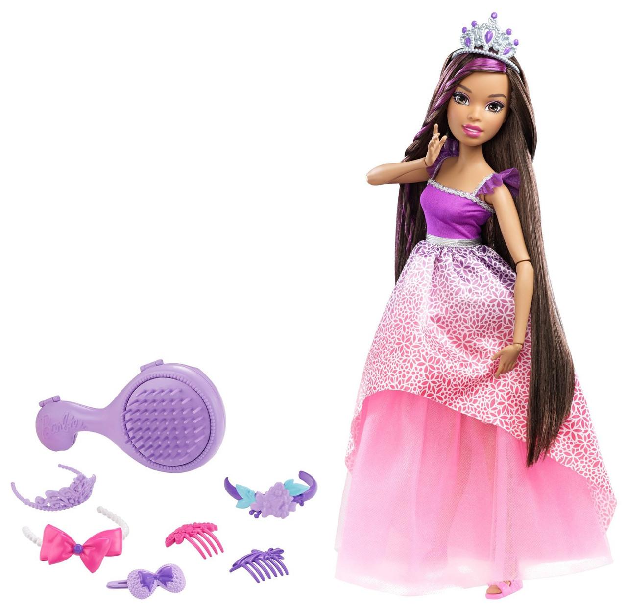 Большая кукла Барби 43 см Сказочно-Длинные волосы Брюнетка, Barbie Dreamtopia, Mattel