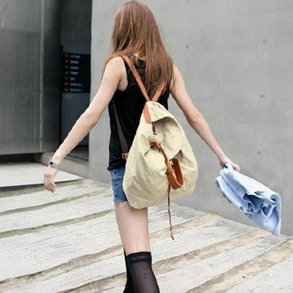 Женская текстильная сумка-рюкзак