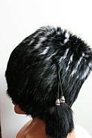 Женская шапка кубанка из натурального меха кролика
