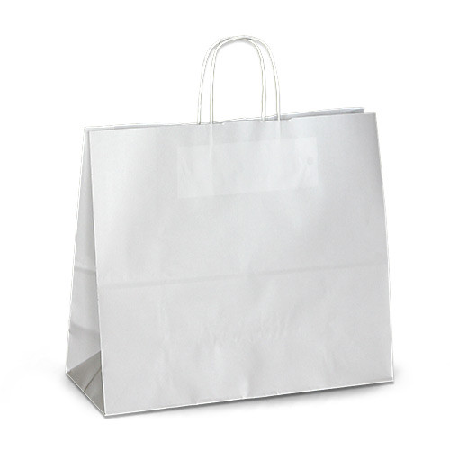 Крафт-пакет 32х13х28 белый с витыми ручками