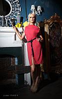 Платье  женское, коралловое ,мультисезон P-VIVA 2-3