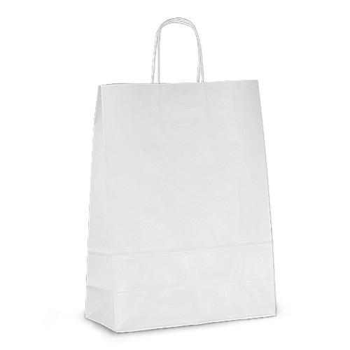 Крафт-пакет 32х13х42,5 белый с витыми ручками