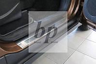 Защитные хром накладки на пороги Ford Transit Courier (Форд транзит курьер 2014+)