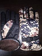 Зимние перчатки утепленные, камуфляжные