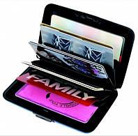 Гаманець Aluma Wallet, чорний / Кошелек Аллюма Уоллет, черный (бумажник, кардхолдер из алюминия), фото 1