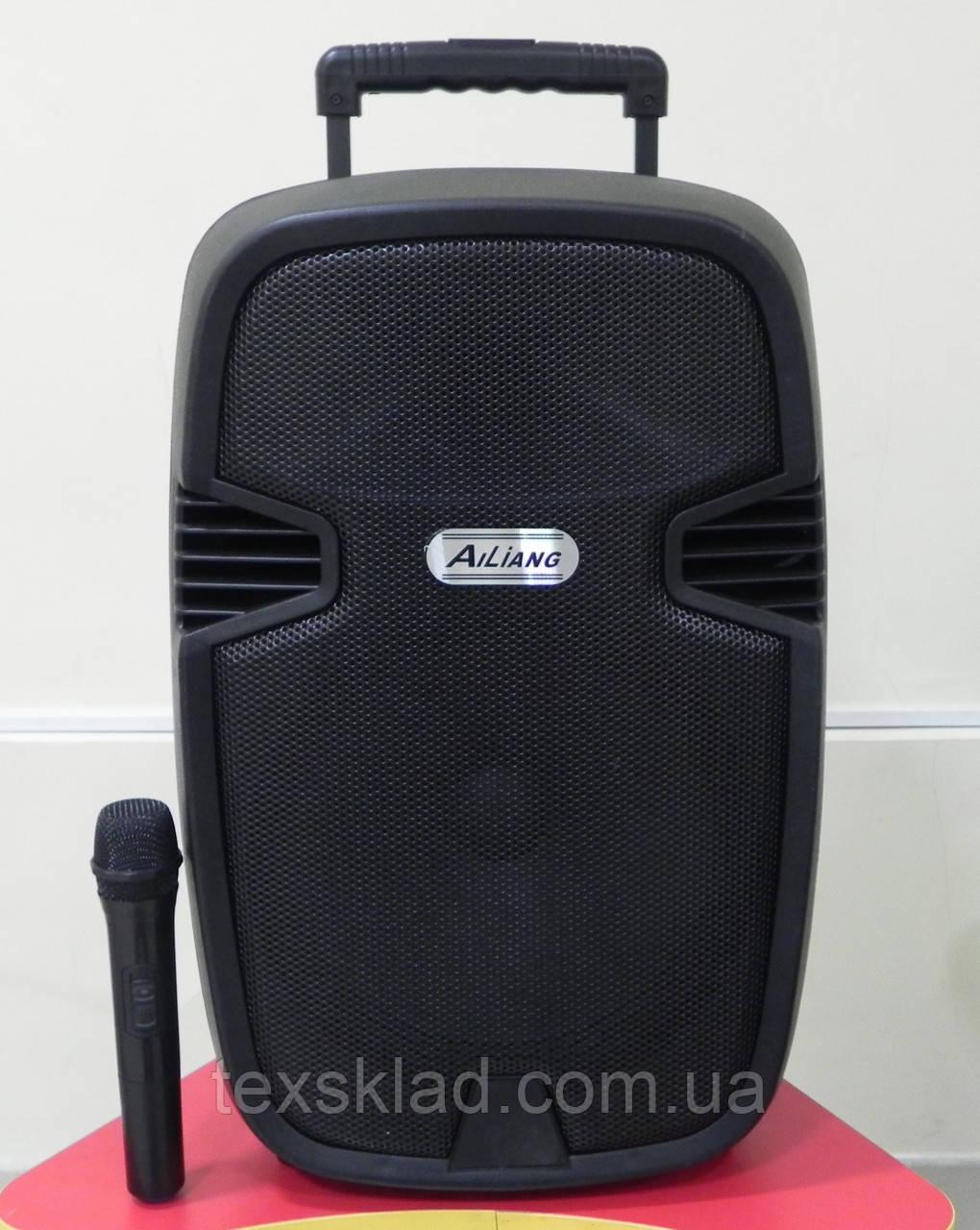 Портативная акустика AJ-12 с радиомикрофоном (USB/Bluetooth/Радио)