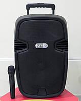 Портативная акустика AJ-12 с радиомикрофоном (USB/Bluetooth/Радио), фото 1
