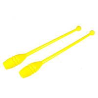 Булавы гимнастические 35 см. желтые