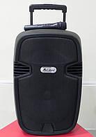 Колонка с аккумулятором AJ-12 (Радиомикрофон/Радио/USB/Bluetooth)