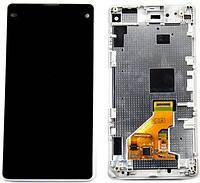 Дисплей (LCD) Sony D5503 Xperia Z1 Compact с сенсором черный + рамка