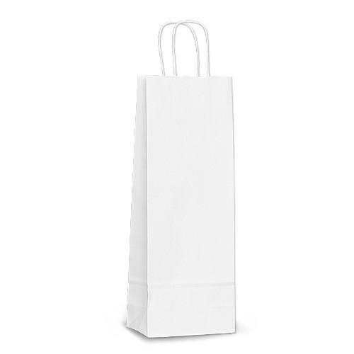 Пакет 15х08х40 белый под бутылку для вина