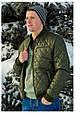 Демисезонная мужская  куртка AMERIKA батал оливка, фото 3