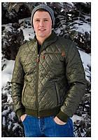 Демисезонная мужская  куртка AMERIKA батал оливка
