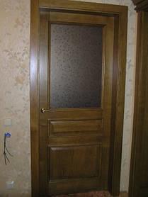 Двері у ванну дерев'яні