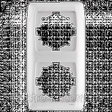 Двойная вертикальная рамка VIKO Carmen Белый