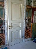 Сплошные двери  деревянные белые