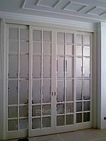 Большие двери со стеклом, деревянные двери от компании Стиль
