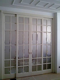 Великі двері зі склом, дерев'яні двері від компанії Стиль