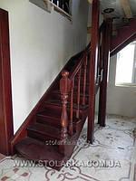 Лестницы деревянные маршевые для дома