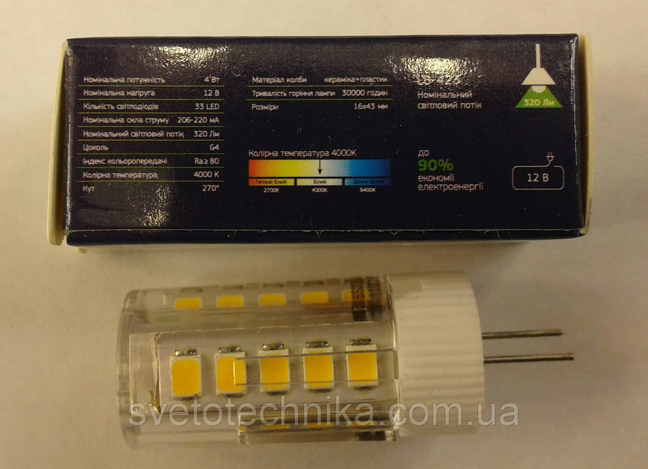 Светодиодная лампа Feron LB-423 G4 4W 230V 4000K