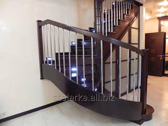 Деревянные маршевые лестницы