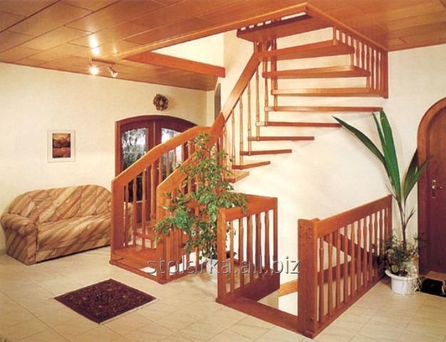 Деревянные лестницы винтовые производство