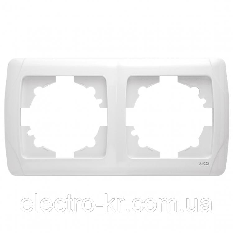 Двойная горизонтальная рамка VIKO Carmen Белый