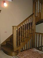 Лестницы забежные из дуба