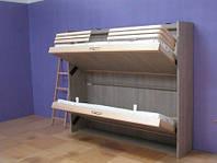 Кровати из массива дерева скрытые