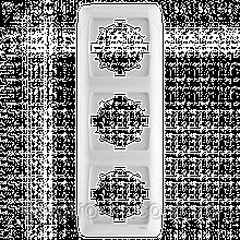 Тройная вертикальная рамка VIKO Carmen Белый