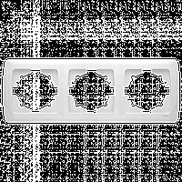 Тройная горизонтальная рамка VIKO Carmen Белый