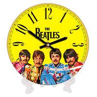 Круглые часы с принтом The Beatles 18 см