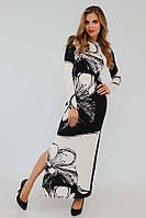 Модельное дизайнерское длинное платье (рр 42-50)