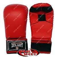 Накладки для рук карате Zelart, красные, размеры S, M