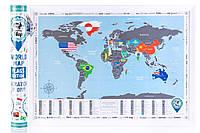 Скретч-карта світу англійською мовою «Map World Flags Edition», фото 1