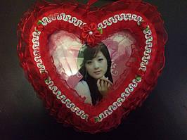 Рамка для фотографий сердце 15 см