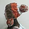 Женская шапка с бубонами, фото 2