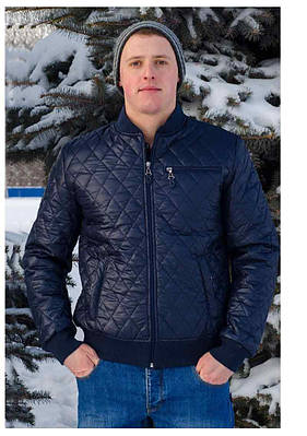 d42998e63b80 Демисезонная мужская куртка AMERIKA батал синий - цена 594 грн ...